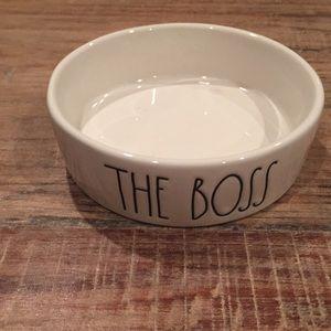 """Rae Dunn """"The Boss"""" pet dish"""
